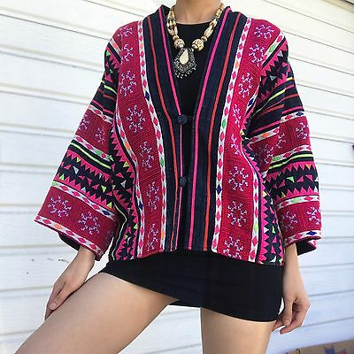 Ethnic Tribal Hand Sewn Cape Style Blouse
