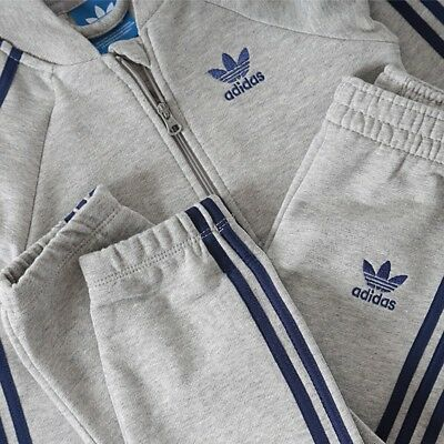 adidas Originals superstar infant boys grey tracksuit. Jogging suit. Age 0-6Y