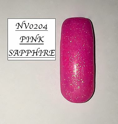 Pink Sapphire Glittered Acrylic Powder 10G Bag  Please See Description