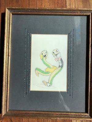 Wonderful Disney, pre Micky Mouse, Silly Symphonies original color drawing.