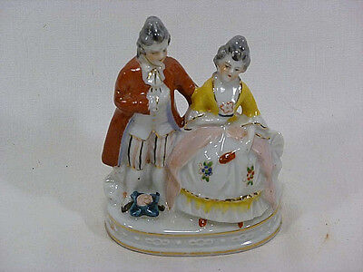 Vintage Small Colonial Couple Figurine From Occupied Japan, Ca. 1947-52