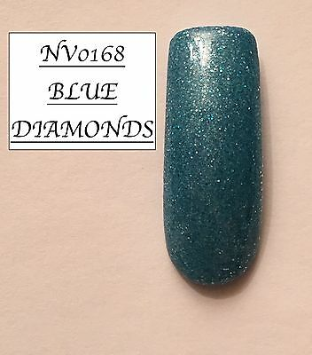 Blue Diamonds Glittered Acrylic Powder 10G Bag Please See Description