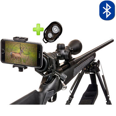 Phone Telescope Adapter Mount for Rifle Scope Binocular Monocular W/ BT Remote