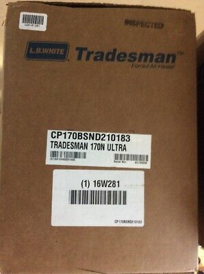 LB White Tradesman 170N Ultra Torpedo Heater New in Box Natural Gas