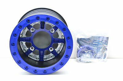 """Hiper Replacement 12/"""" Wheel Ring Sidewinder Blue RZR800S Grizzly Outlander"""