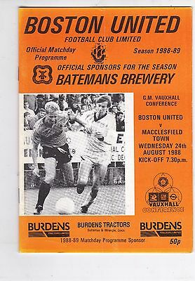 Boston United Home Programmes 1988 To Date