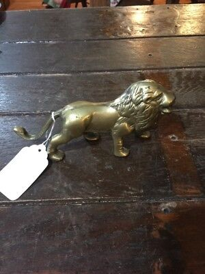 Antique Vintage Brass Lion Solid Brass Figurine Decorative Collectible Statue