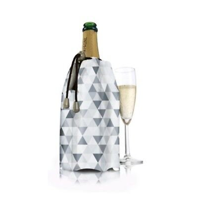 New Vacu Vin Active Champagne Cooler Diamond Grey