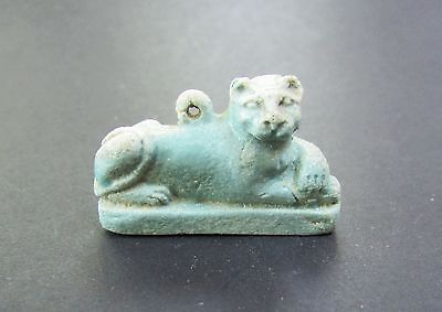 NILE  Ancient Egyptian LIon Amulet ca 1000 BC