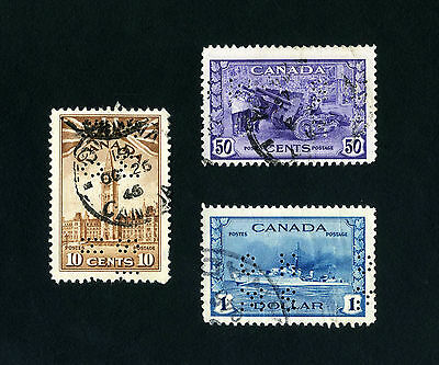 Canada Stamps  Officials  Perforated  OHMS   Lot  of  3   Used