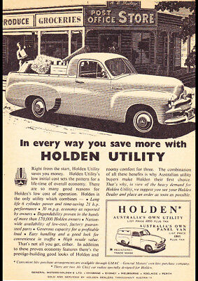 "1955 FJ HOLDEN UTE PANEL VAN AD A1 CANVAS PRINT POSTER FRAMED 33.1""x23.4"""