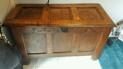 Antique Oak Coffer possibly 18th Century.