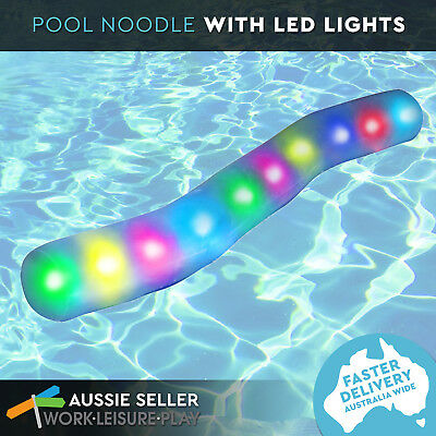 LED Light up Pool Noodle Inflatable Pool Water Toy by Airtime Lights Aqua Party
