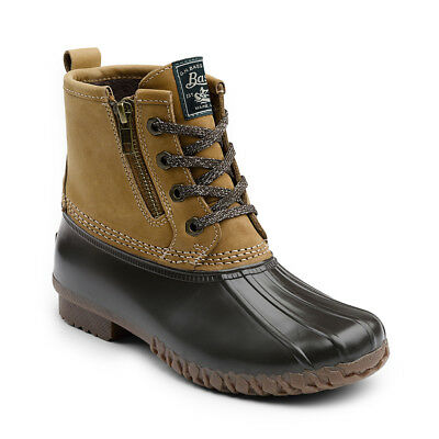 G.H. Bass & Co. Women's Danielle Leather Waterproof Duck Boot Tan/Chocolate