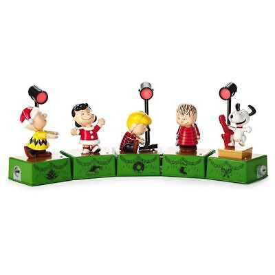 Hallmark 2017 ~ Peanuts Christmas Dance Party Set of 5 Figures w/ Music/Motion