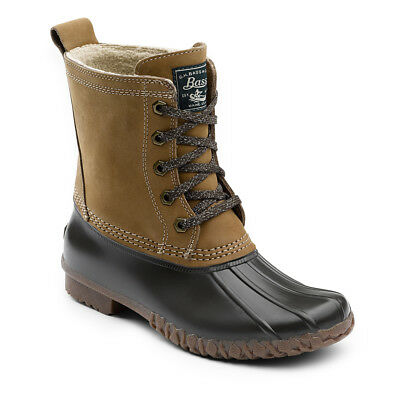 G.H. Bass & Co. Women's Daisy Leather Waterproof Duck Boot Tan/Chocolate
