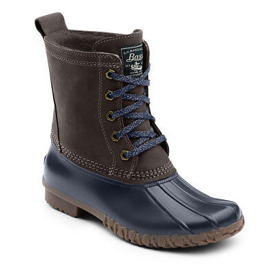 G.H. Bass & Co. Women's Daisy Leather Waterproof Duck Boot Chocolate/Navy