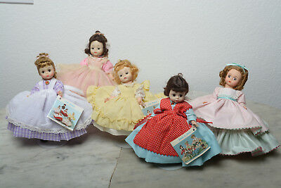8 in Madame Alexander Dolls Little  Woman Lot of 5.No Boxes, Some tags missing