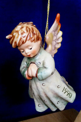 """Goebel Hummel Annual Ornament 1990 3rd Edition #484 """"PEACE ON EARTH"""" Mint Cond!"""