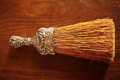 Antique Silverplate Hand Broom, Sweeper or Whisk
