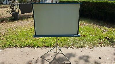 Sears Roebuck Vintage Projection Movie Screen Tripod slide projector 40x40 8mm