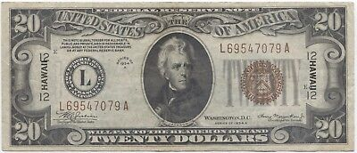 1934 A $20 Hawaii World War II Emergency Currency!!!