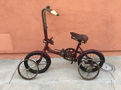 VINTAGE 1940'S WW2 Shimura Seiki Road Puppy Folding Bike Japanese  Paratrooper