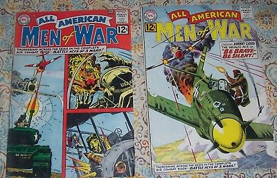 Lot Of 2 All American Men Of War #94 & 95 D.c. War Comics Johnny Cloud!!