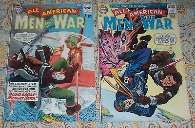 Lot Of 2 All American Men Of War #102 & 103 D.c. War Comics Johnny Cloud!!