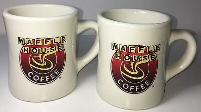 2 Official Waffle House Coffee mug/cup Tuxton 3 1/4in Wide X 3 3/4in Deep
