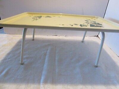 Mid Century Replogle Metal Bed Tray Table Green Ivy Design 1950s In - Picture-table-by-ivydesign