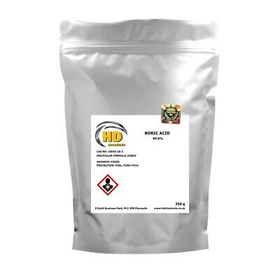 99.9% PURE BORIC ACID * Kills Ants, Fleas, Cockroaches, Silverfish, FREE Postage