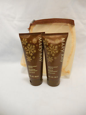 NEW Mary Kay Gingerspice Wishes Shower Gel & Body Lotion w/Travel Bag 3 fl oz