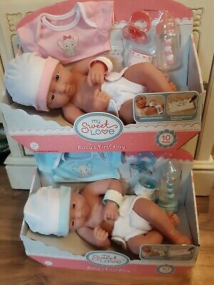 Precious Preemie Twins All Vinyl La Newborn 14 Inch Takes Pacifier Boy  And Girl