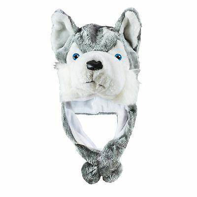 1 pc Husky Timber Wolf Cute Plush Animal Winter Hat Warm Winter Fashion (Short)