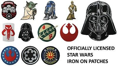Star Wars Iron On Embroidered Patches - Officially Licensed #134