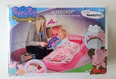 New PEPPA PIG ReadyBed Sleeping Bag Inflatable Air Mattress & Pump Ready Bed