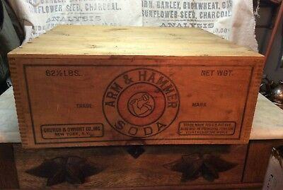 Antique Arm & Hammer Soda Wood Crate