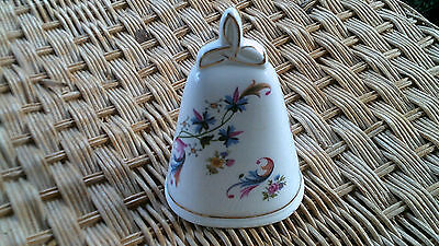 Irish Bell, Fine Bone China Made In Galway Ireland,  Flower & Gold Trim