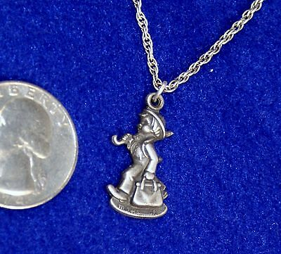 Vintage Goebel Hummel Sterling Silver Pendant & Chain With Brooch Pin
