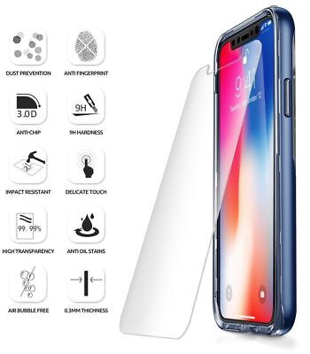 NEW Premium Tempered Glass Screen Protector For Apple iPhone X