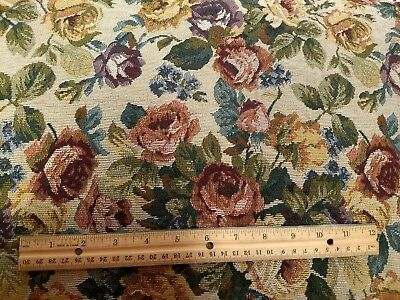 Victorian Woven Upholstery Fabric By The Yard Tapestry Floral Flower