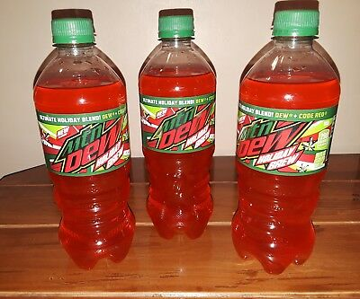 ☆ Mountain dew holiday brew limited edition lot 20 oz ☆