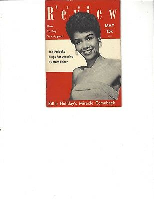 New Review May 1954 Evelyn Robinson cover; Billie Holiday's Comeback