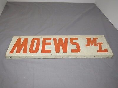 Original MOEWS Hybrid Seed Corn Fence Spinner SIGN EARLY ML 14
