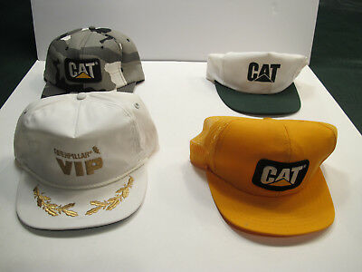 4 Cat Hats - 2 Trucker Hats, 1 Baseball Style Hat and 1 Golf Style Hat