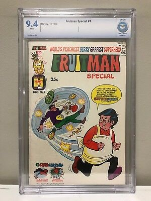 Fruitman Special #1 Cbcs 9.4 Nm! High Grade! White Pages! Harvey Comics