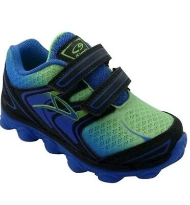 adda5efb7dd37f C9 Champion Blue Green Black Geofoam Athletic Train Shoes Boy s Size 5 New  Twins