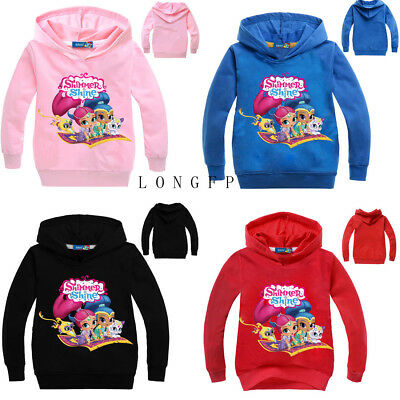 Shimmer and Shine Cartoon Girls Hoodies SweatShirts Tops Hooded Jumpers Clothes