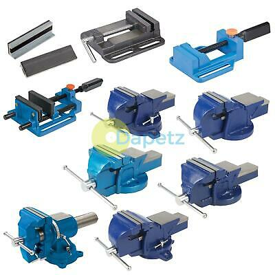 "4""/5""/6"" Heavy Duty Work Bench Vice Engineer Jaw Swivel Base Workshop Vise Clamp"